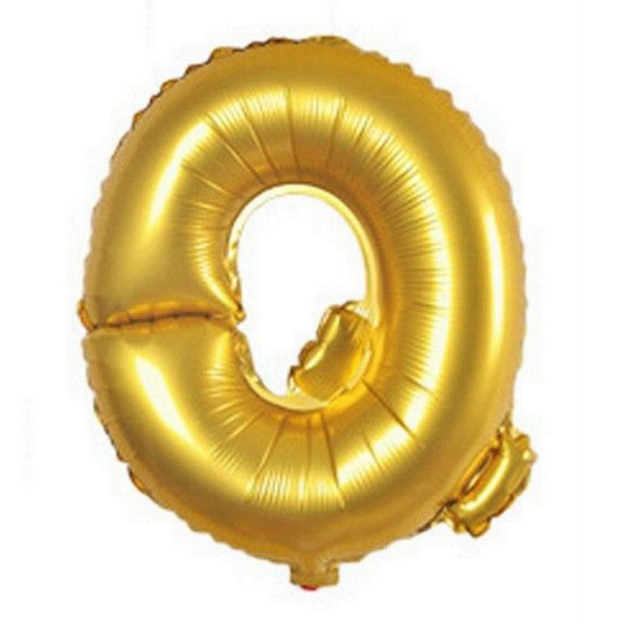 40cm Gold Alphabet Air-Filled Foil Balloon - Letter Q - Online Party Supplies