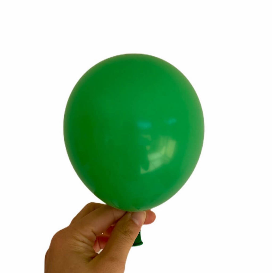 5 Inch Forest Green Latex Balloons (Pack of 10) - Wedding, Bachelorette Party, and Bridal Shower Balloon Decorations