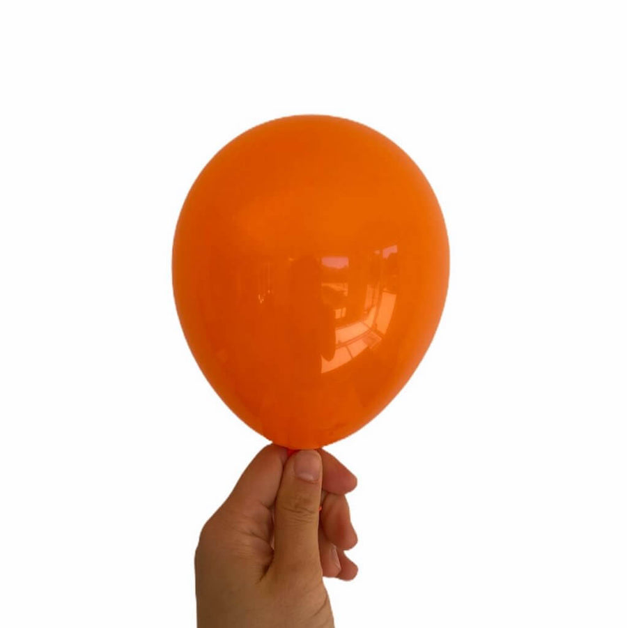 5 Inch Orange Latex Balloons (Pack of 10) - Wedding, Bachelorette Party, and Bridal Shower Balloon Decorations