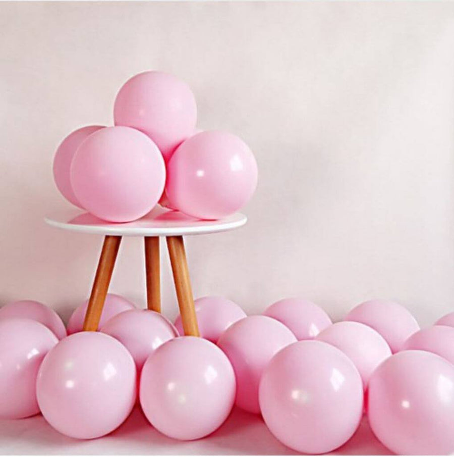 "5"" / 10"" / 12"" Pastel Soft Pink Macaron Latex Balloons (Pack of 10)"