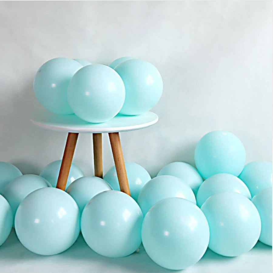 "5"" / 10"" Pastel Tiffany Blue Macaron Latex Balloons (Pack of 10)"