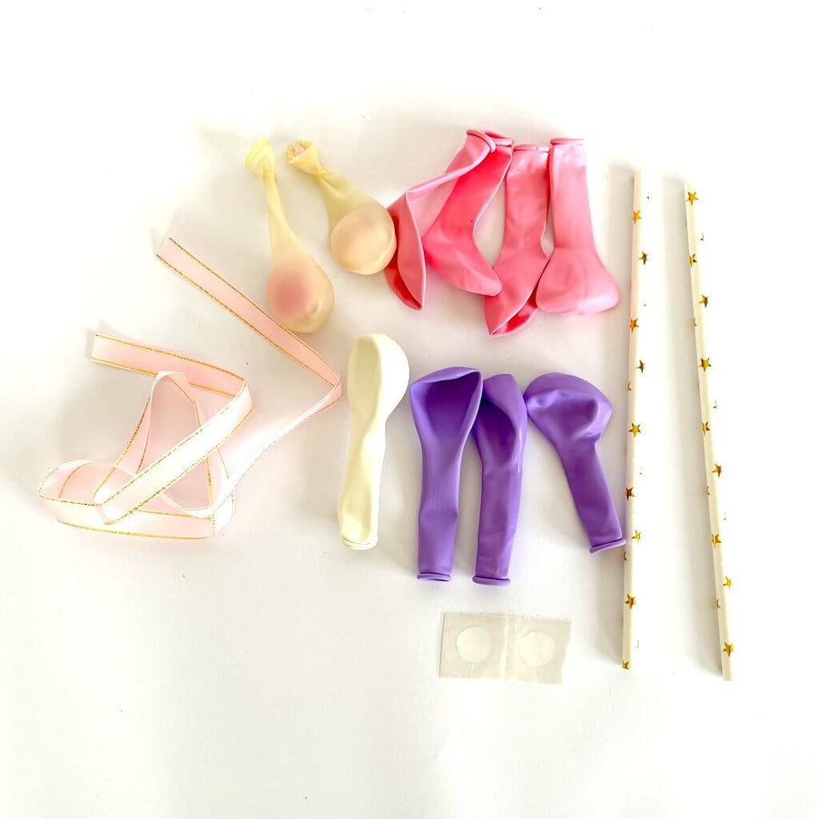 Mini Confetti Latex Balloon Garland Cake Topper Kit - Pink & Purple
