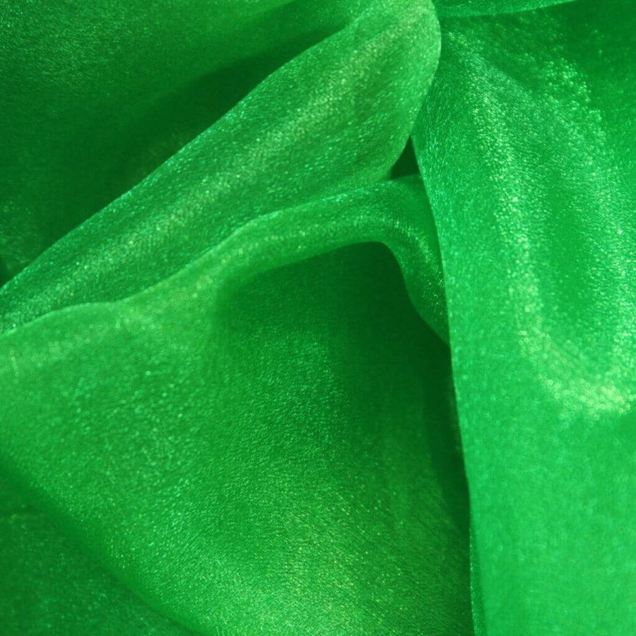 48cm x 5m Shimmer Sheer Dark Green Crystal Organza - Wedding Chair Sashes and Backdrop Decorations