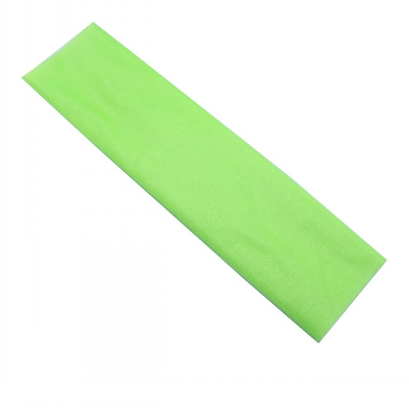 48cm x 5m Shimmer Sheer Lime Green Crystal Organza - Wedding Chair Sashes and Backdrop Decorations