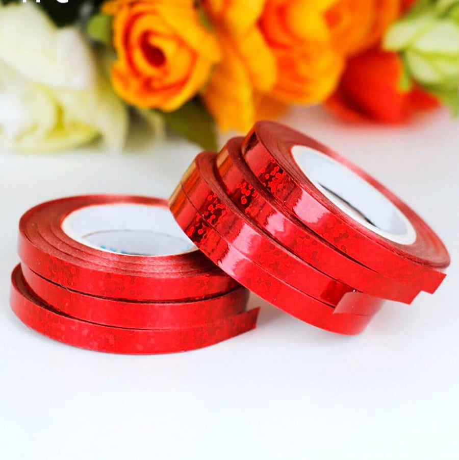 Holographic Laser Red Foil Curling Ribbon Roll - 5mm*10m