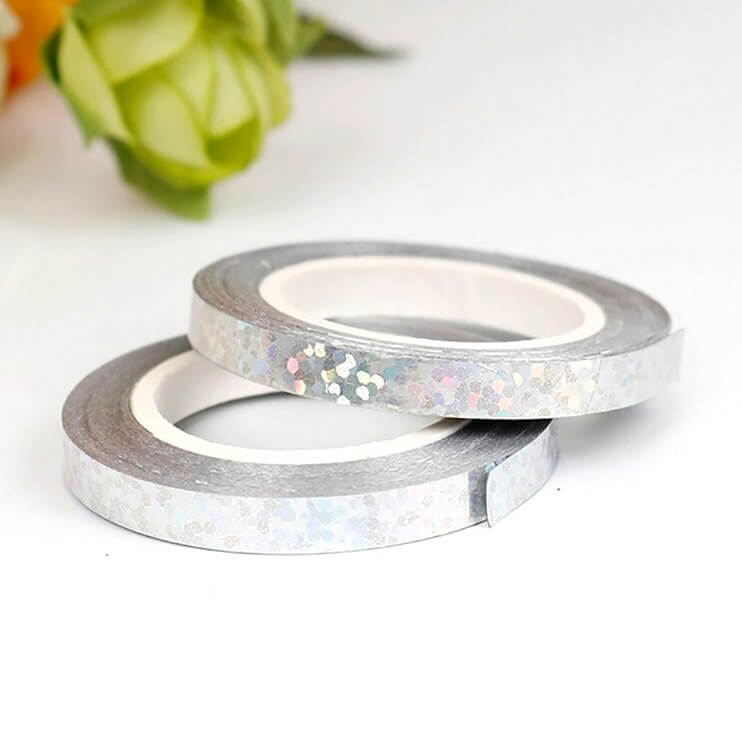 Holographic Laser Silver Foil Curling Ribbon Roll - 5mm*10m
