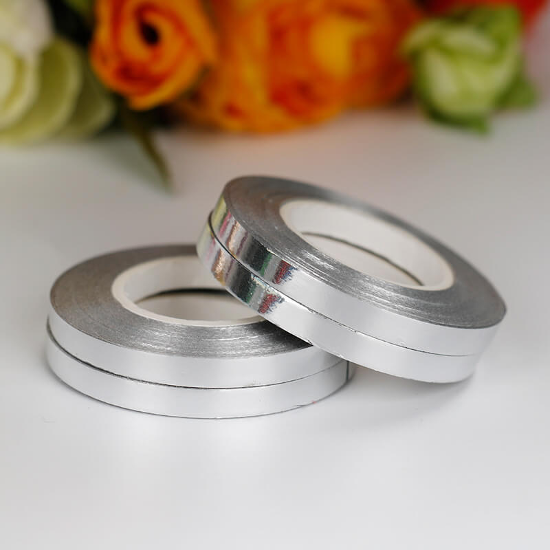 Metallic Silver Foil Curling Ribbon Roll - 5mm*10m