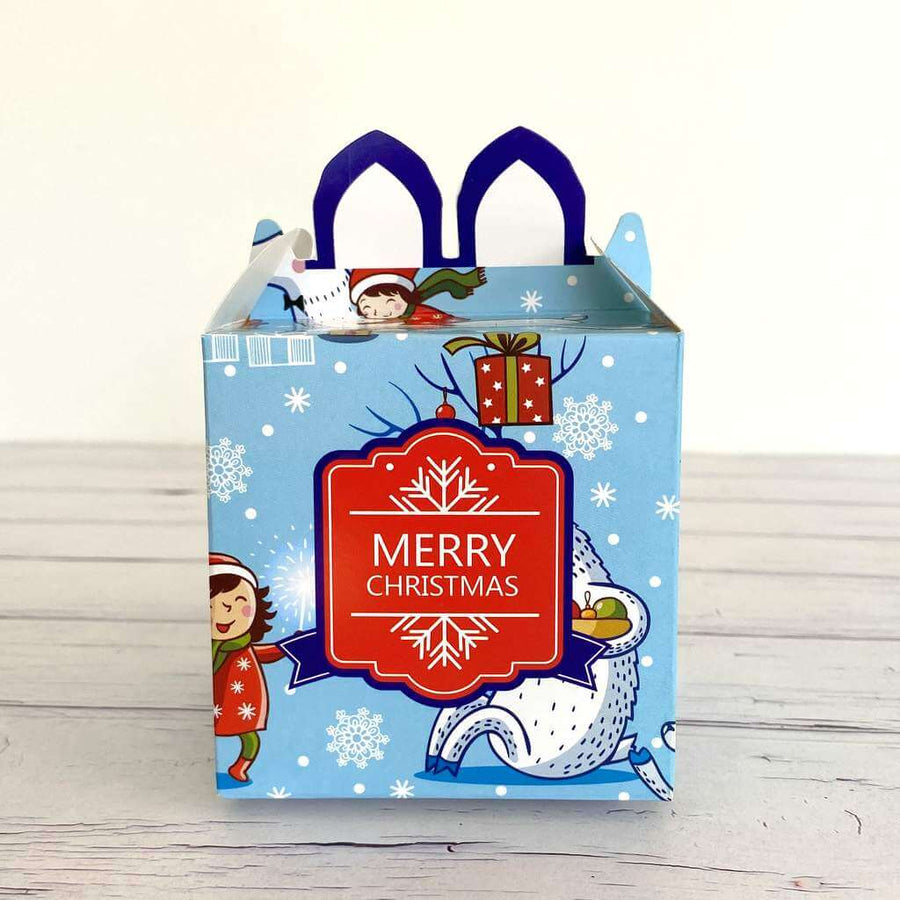 Blue Red Merry Christmas Happy Little People Treat Box 5 Pack