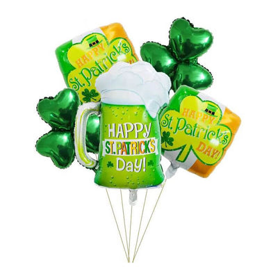Happy Saint Patrick's Day Foil Balloon Bouquet - Pack of 5