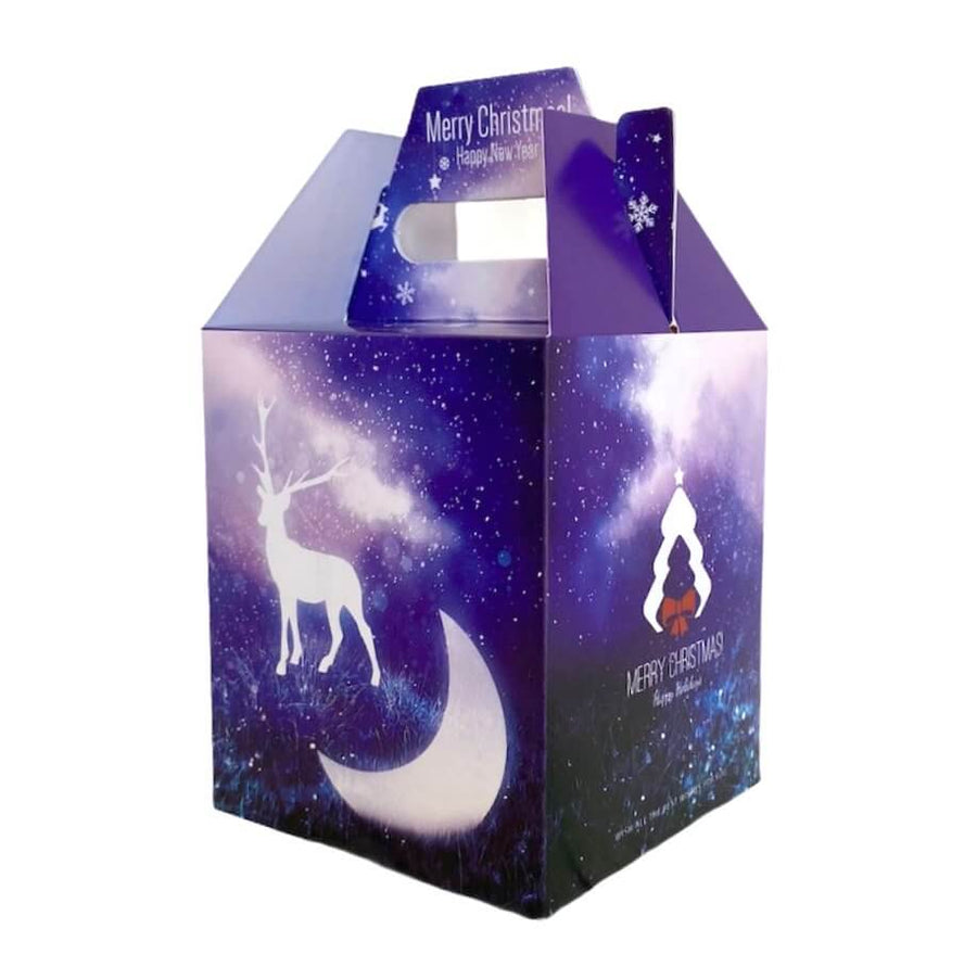 Purple Merry Christmas Reindeer & Moon Gift Box 5 Pack