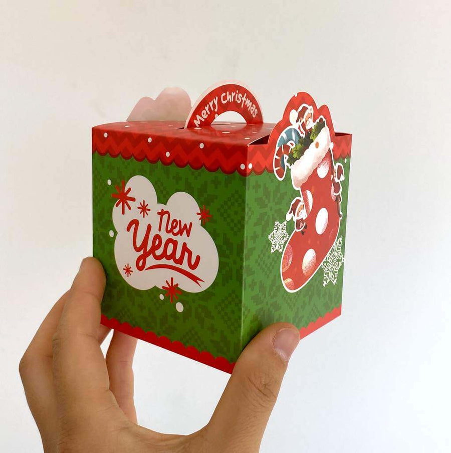 Red Green Merry Christmas Stocking Gift Box 5 Pack