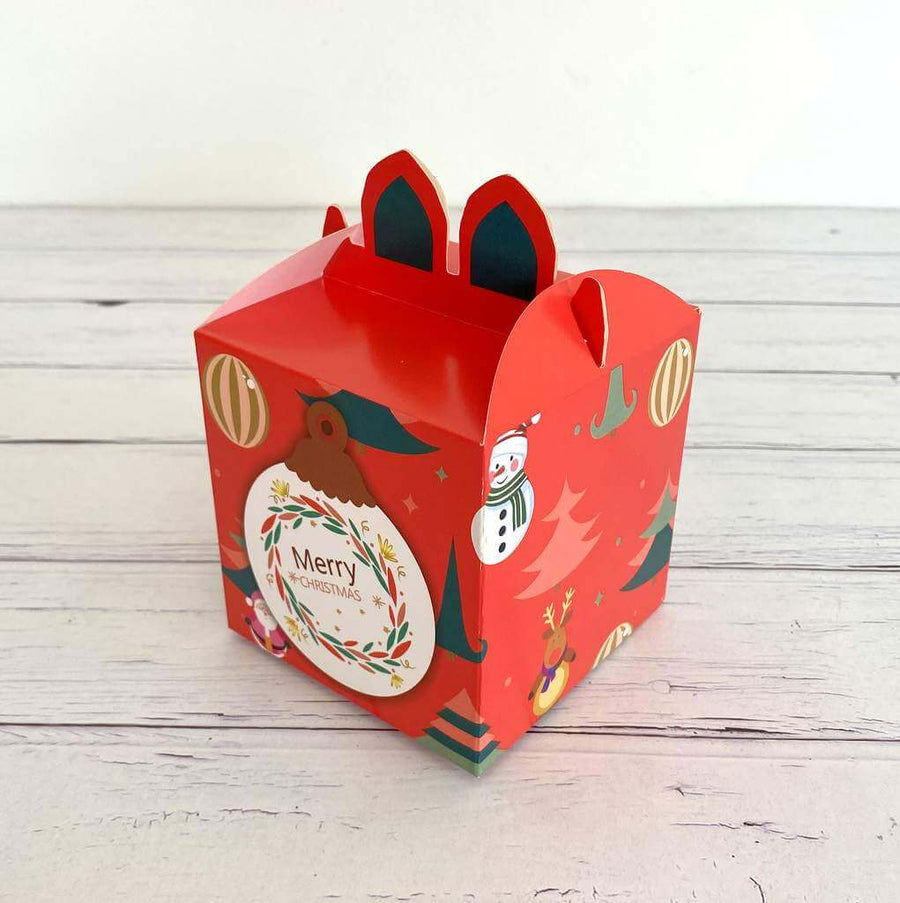 Red Merry Christmas Bauble Candy Box 5 Pack