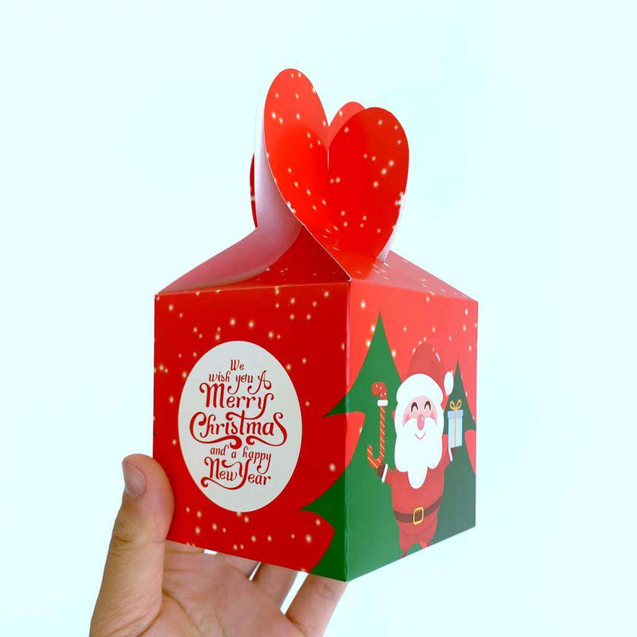 Red Santa We Wish You A Merry Christmas And A Happy New Year Gift Box 5 Pack