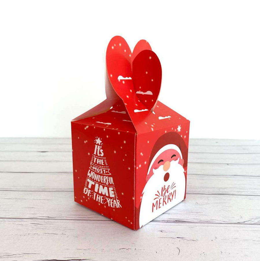Red Be Merry Santa Candy Box 5 Pack