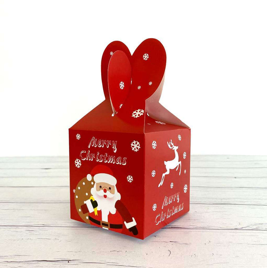 Red Santa & Reindeer Goodie Box 5 Pack