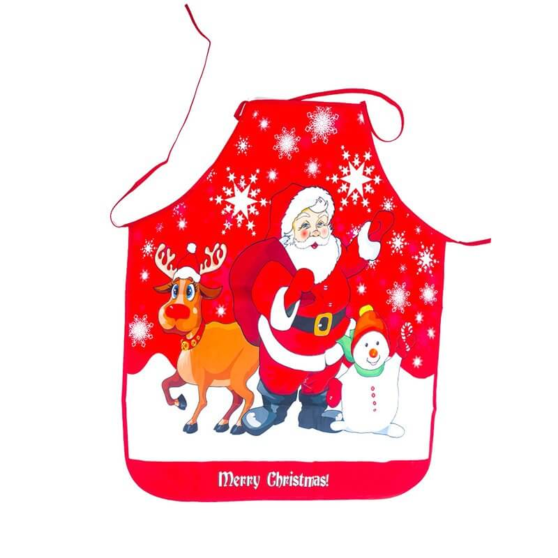 Christmas Apron for Adults - Santa, Reindeer and Snowman