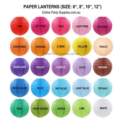 Online Party Supplies Australia 6-inch Multicoloured Decorative Paper Lanterns Balls