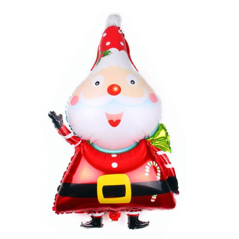 95x55cm Christmas Santa Claus Shaped Helium Supported Foil Balloon - Christmas Party Decorations