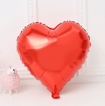 "9"" Red Heart Foil Balloon Bundle (Pack of 10pcs) - Online Party Supplies"