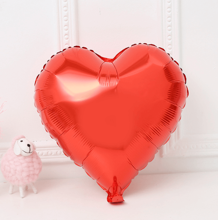 "9"" Red Heart Foil Balloon Bundle (Pack of 10pcs)"