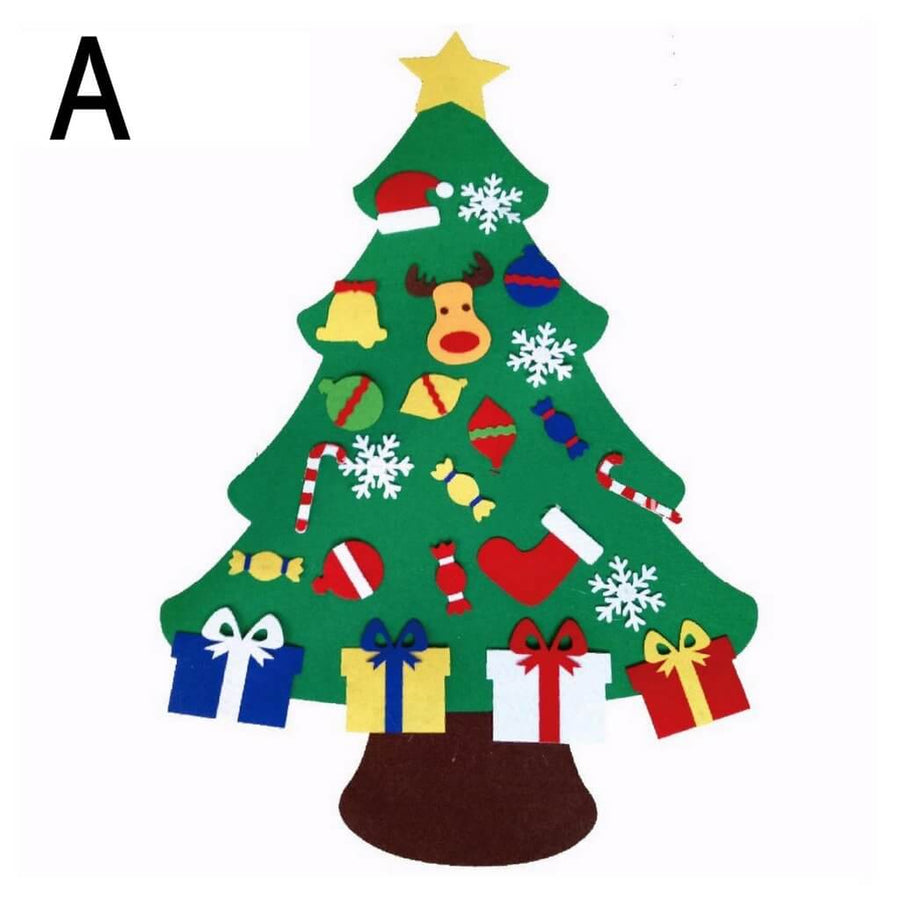 Online Party Supplies DIY Felt Christmas Tree Kit For Kids Xmas Gifts for Toddlers