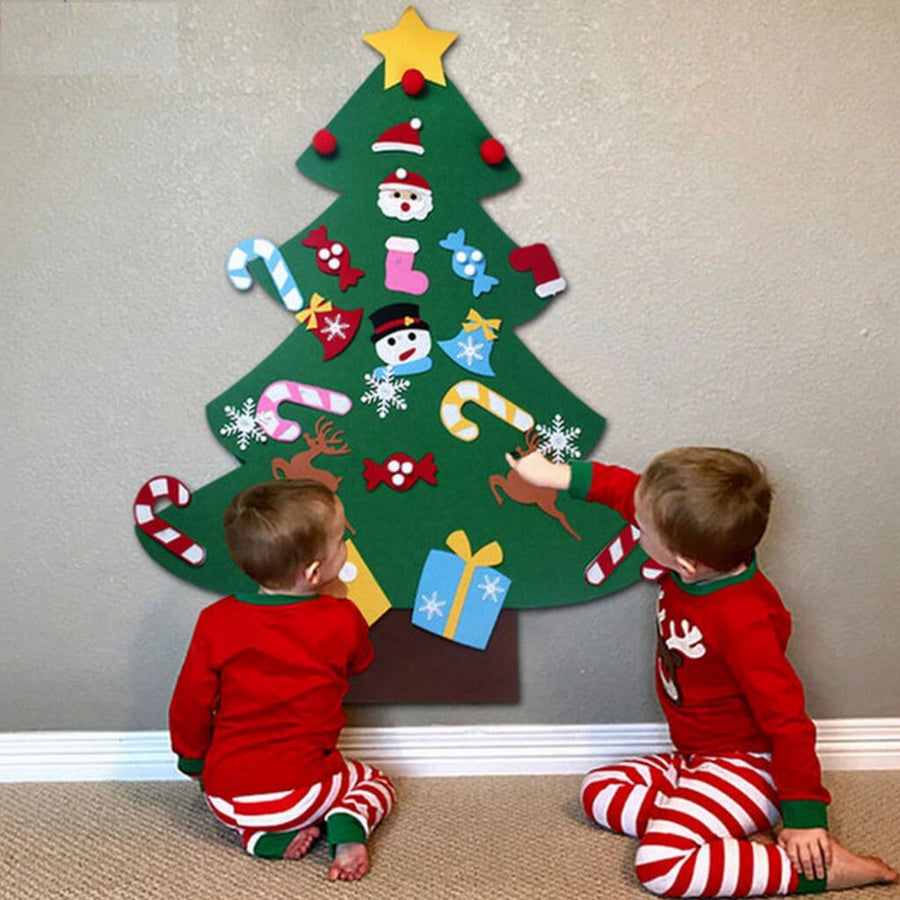 Style A - Online Party Supplies DIY Felt Christmas Tree Kit For Kids Xmas Presents for Tzoddlers