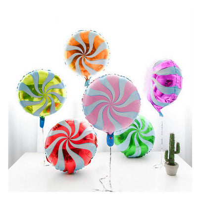 "18"" Online Party Supplies ""Multicoloured Swirl Sweet Candy Lollipop Balloon Candyland Party Theme"