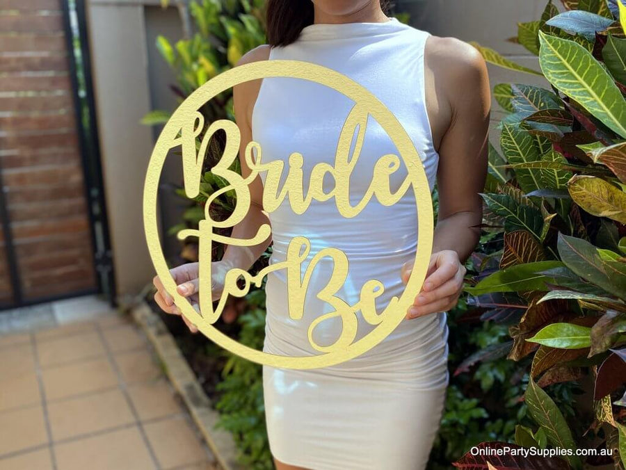 Online Party Supplies Australia acrylic gold mirror Bride To Be hoop Bridal Hanging Wall Sign - Wedding Centrepiece Decorations