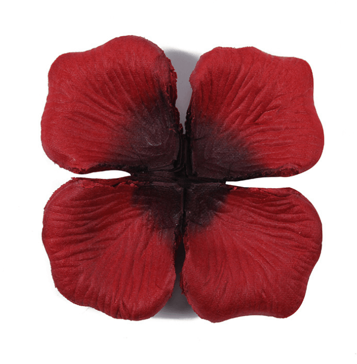 Online Party Supplies Australia Artificial Fake Realistic Silk burgundy red Wedding Rose Petals