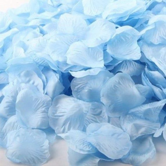 Online Party Supplies Australia Artificial baby blue light blue Silk Wedding Runner Aisle Flower Girls Rose Petals