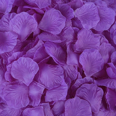 Artificial eggplant purple Silk Wedding Runner Aisle Flower Girls Rose Petals Australia