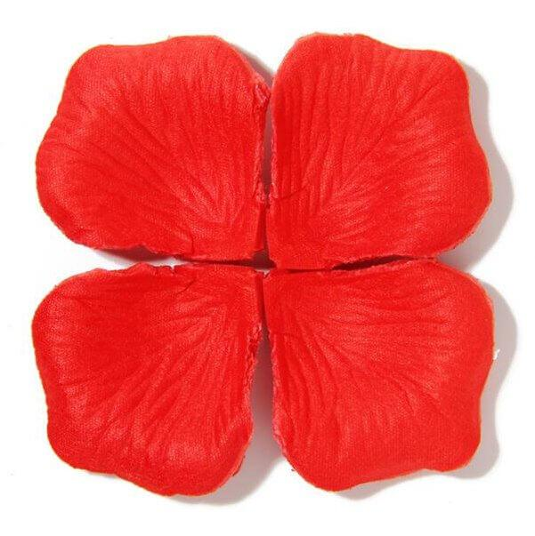 Artificial Red Silk Rose Petals