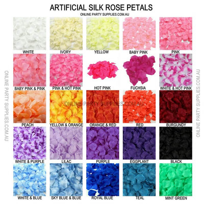 multi colour Artificial Black Silk wedding Rose Petals