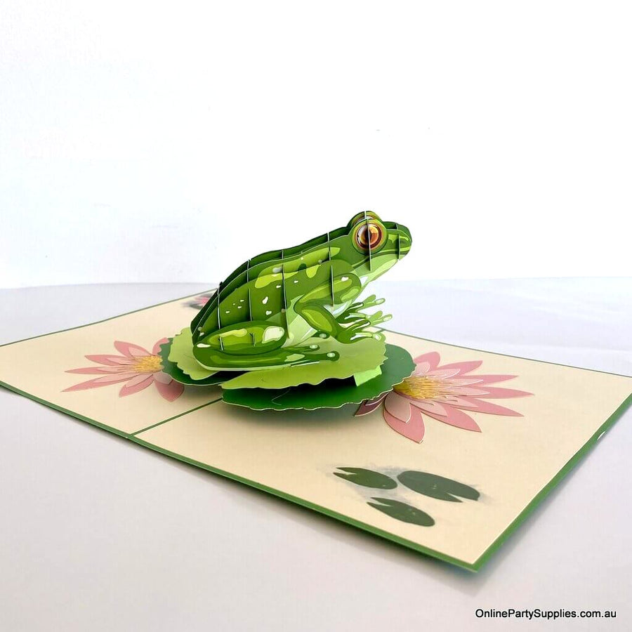 Handmade Green Tree Frog 3D Greeting Card - Australian Native Animal Pop Up Cards