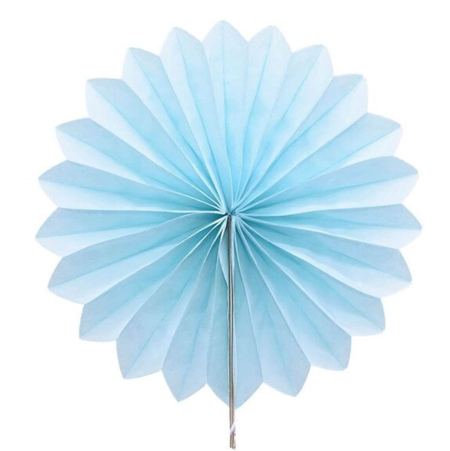 Online Party Supplies Australia Baby Blue round tissue paper fan party decorations