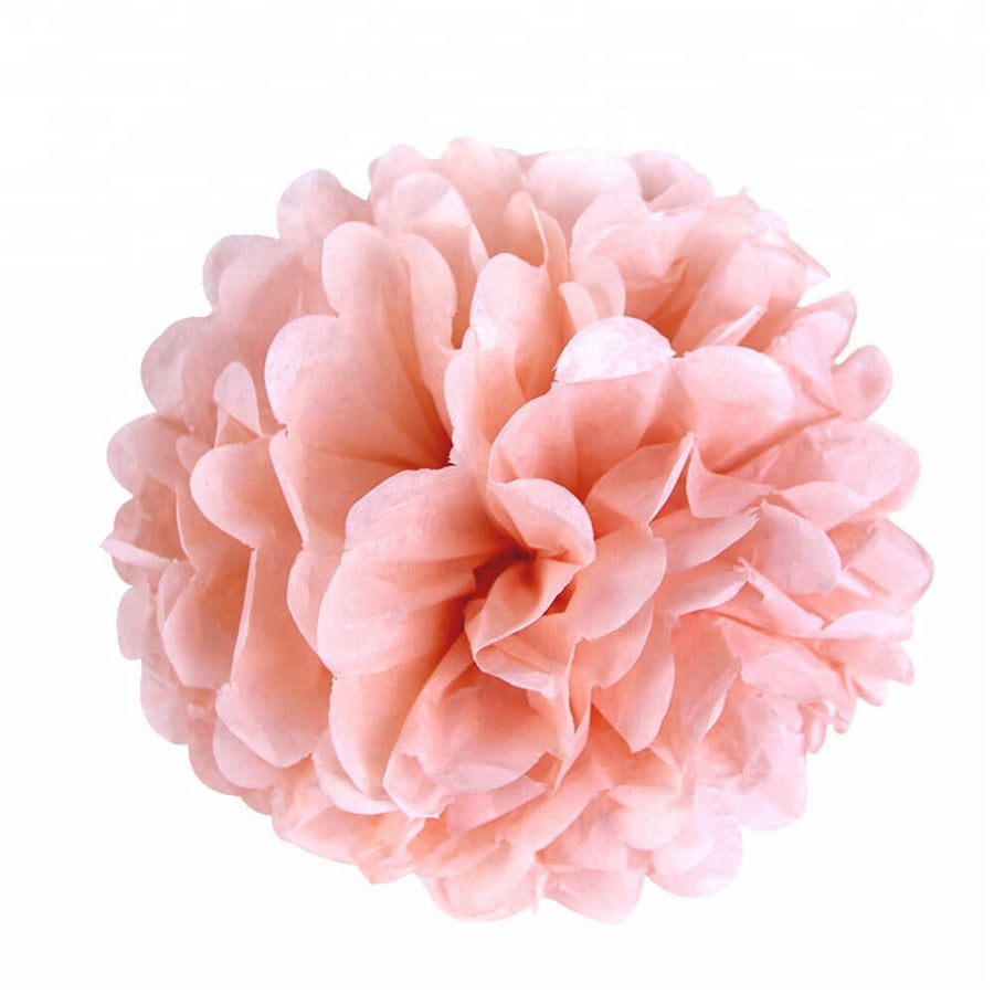 Party Decorations Tissue Paper Pom Poms - Baby Pink