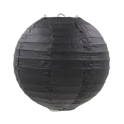Online Party Supplies Australia 6-inch black Decorative Paper Lanterns Balls