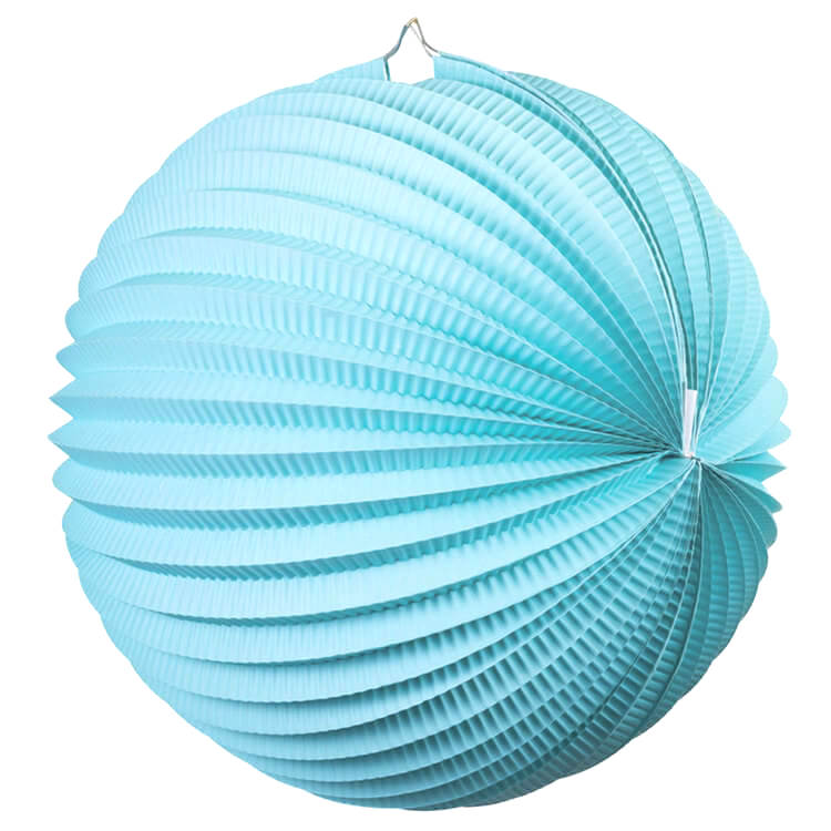 Online Party Supplies Australia blue accordion paper lantern ball baby shower wedding nursery home decorations