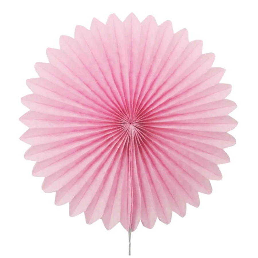 Blush Pink Tissue Paper Fan - 6 Sizes