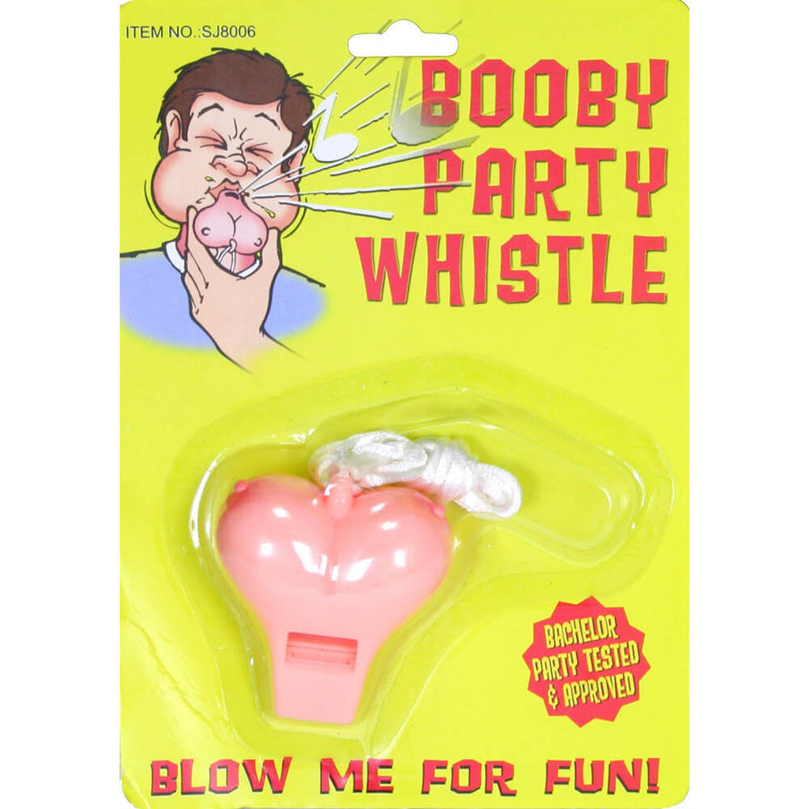 Boobie Shaped Whistle - Naughty and Fun Bachelorette and Birthday Gag Gifts