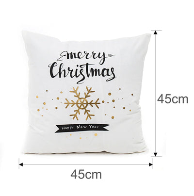Bronze Christmas Decorative Cushion Covers - Online Party Supplies