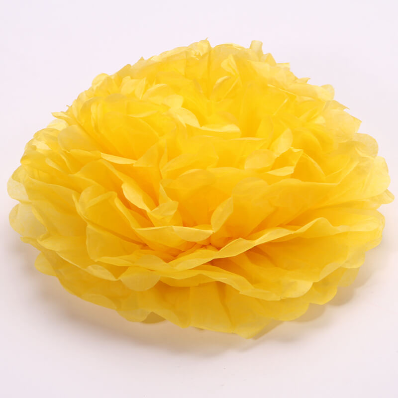 Party Decorations Tissue Paper Pom Poms - Bumblebee Yellow