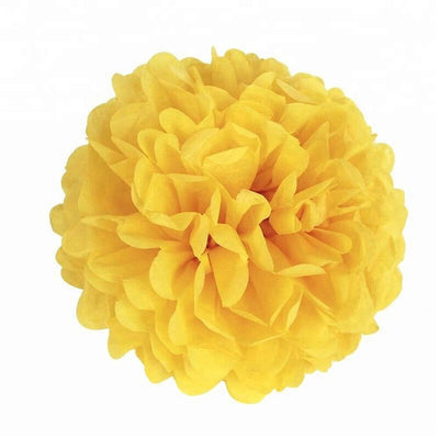 bumblebee yellow Tissue Paper Pom Poms Pompoms Balls Flowers Party Hanging Decorations