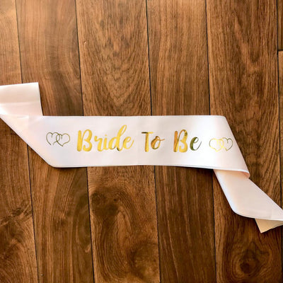 Champagne Pink Bride To Be Bachelorette Party Satin Sash - Online Party Supplies