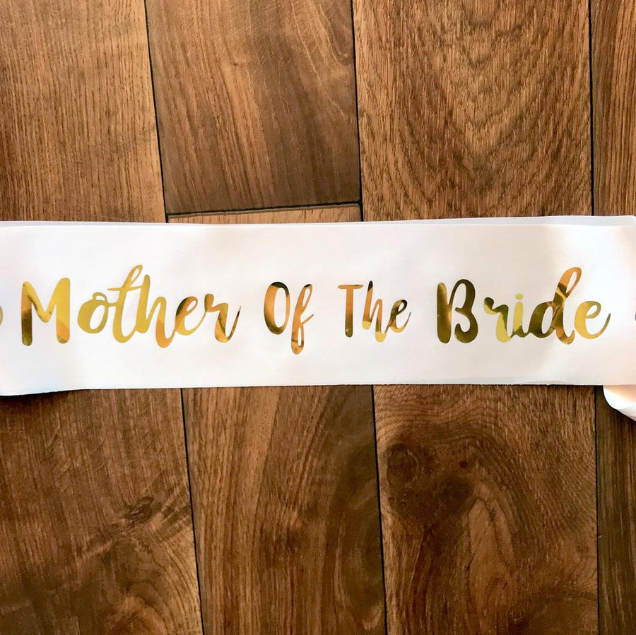 Champagne Pink 'Mother Of The Bride' Bachelorette Party Satin Sash