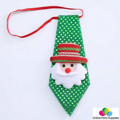 Christmas Adjustable Sequin Neck Tie for Kids or Toddlers - Online Party Supplies
