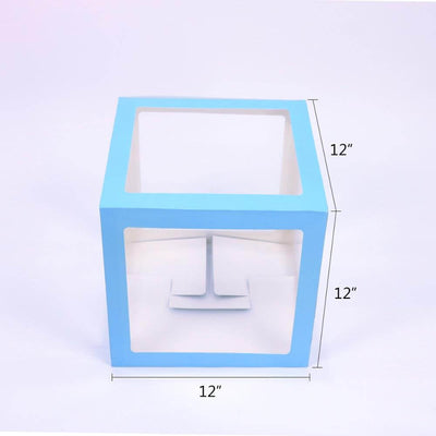 Transparent Baby Shower Balloon Cube Boxes Dimensions