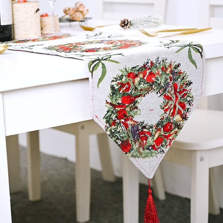 Christmas Table Runner with Tassel