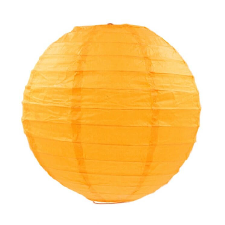 Cyber Yellow Round Chinese Paper Lantern - 4 Sizes