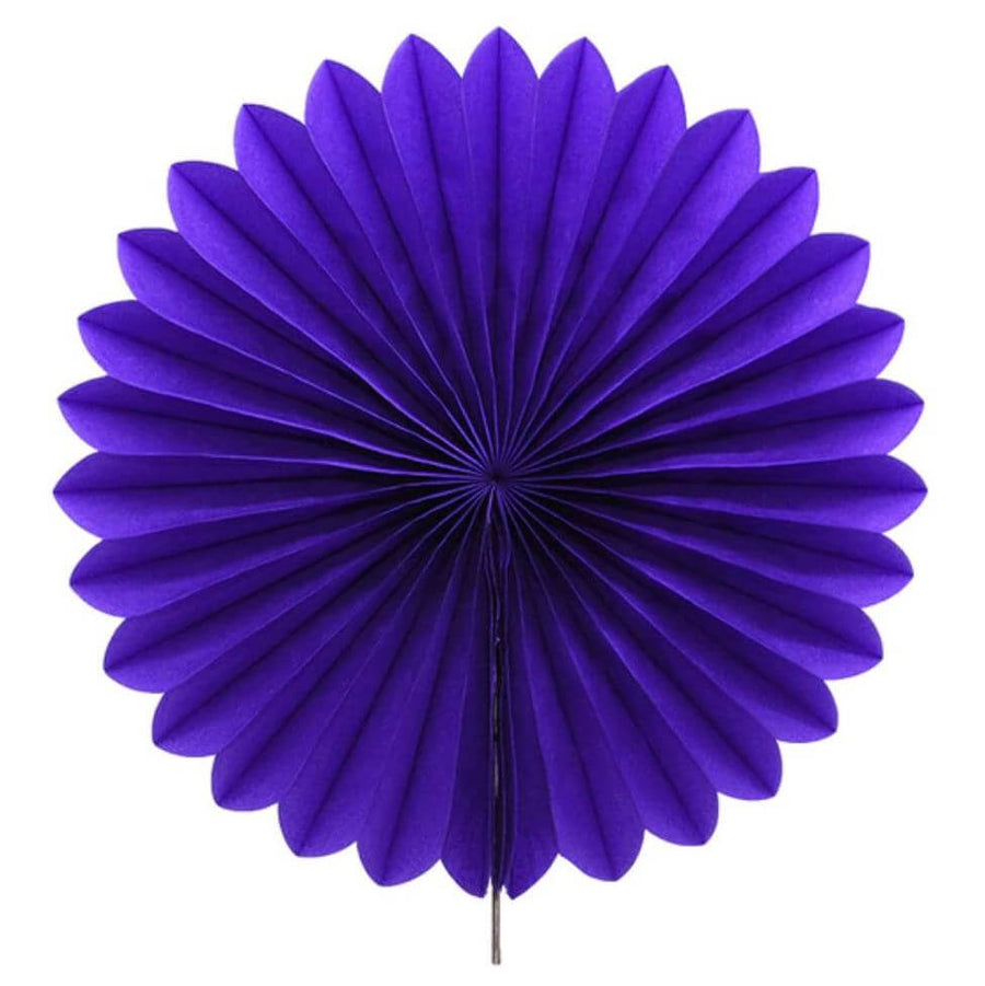 Online Party Supplies Australia Eggplant round tissue paper fan party decorations